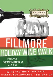 Fillmore Holiday Wine Walk Poster 2017